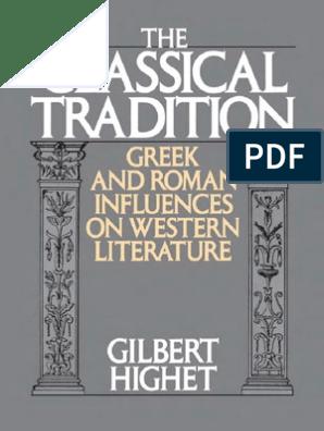 GILBERT HIGHET - La tradición clásica (inglés) | Greek Mythology