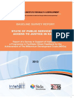 State of Public Service and Access to Justice in Kenya