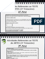 Teste Artes 3oTrimestre