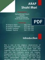 ARAP Shahi Iftari