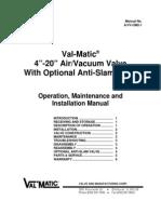 AVV OM2 1-4-20inAirVacuumValve
