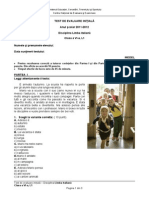 Evaluare Initiala Lb Italiana Cls 6 l1 Test