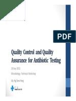 QA QC for Antibiotic Testing