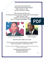 Carroll County NAACP to hold Annual Freedom Fund Banquet on Friday, October 11th, 2013