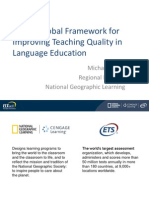A New Global Framework for Improving Teaching Quality in Language Education