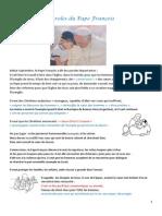Fiche Bible 41  Paroles du Pape François