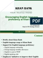 Encouraging English language proficiency at Khan Bank