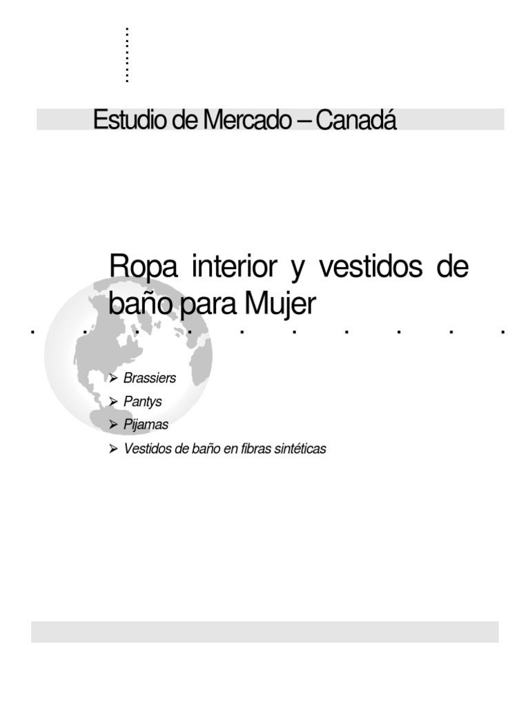 f07070fc1026 Ropa interior y vestidos de baño para Mujer: Estudio de Mercado – Canadá