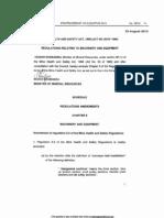 Regulations Amendments - Chapter 8 Machinery and Equipment
