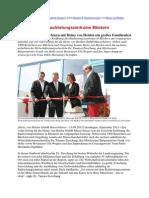 Eröffnung des Bauleistungszentrums Möckern prm