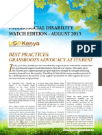 Kenya Psychosocial Disability August 2013 Edition Newsletter