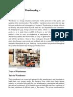 Warehousing Report