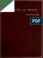 Hanslick, Eduard. Vom Musikalisch-Schönen