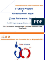 The TOEIC Program and Globalization in Japan