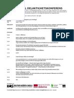 Delaktighetskonferens Program