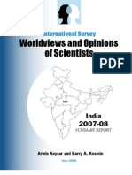 Worldviews and Opinions of Scientists
