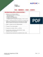 P740 Questionnaire Maroc CSO 225kV