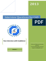 CAD Interview Questions Module 1