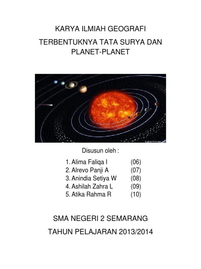 Karya Ilmiah Geografi Tata Surya