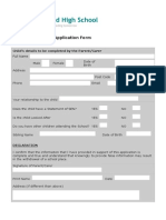 In-year Application Form