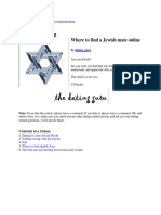 Kosher Dating--Where to Find a Jewish Mate Online