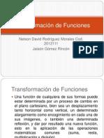 Transformacion de Funciones