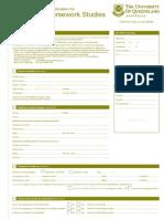 Intern at Grad Course Work App Form