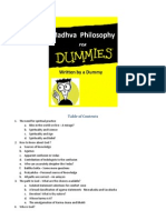 Madhva Philosophy for Dummies TableOfContent