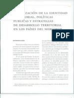 Identidad Territorial, Experiencias Mercosur