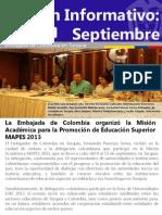 Boletín de la Embajada Colombia en Turquia - Septiembre