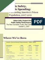 Forecasting america's prison population, 2007-2011