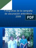 Fotografías de la campaña de vacunación antirrábica 2009