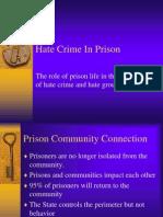 Hate Crime in Prison