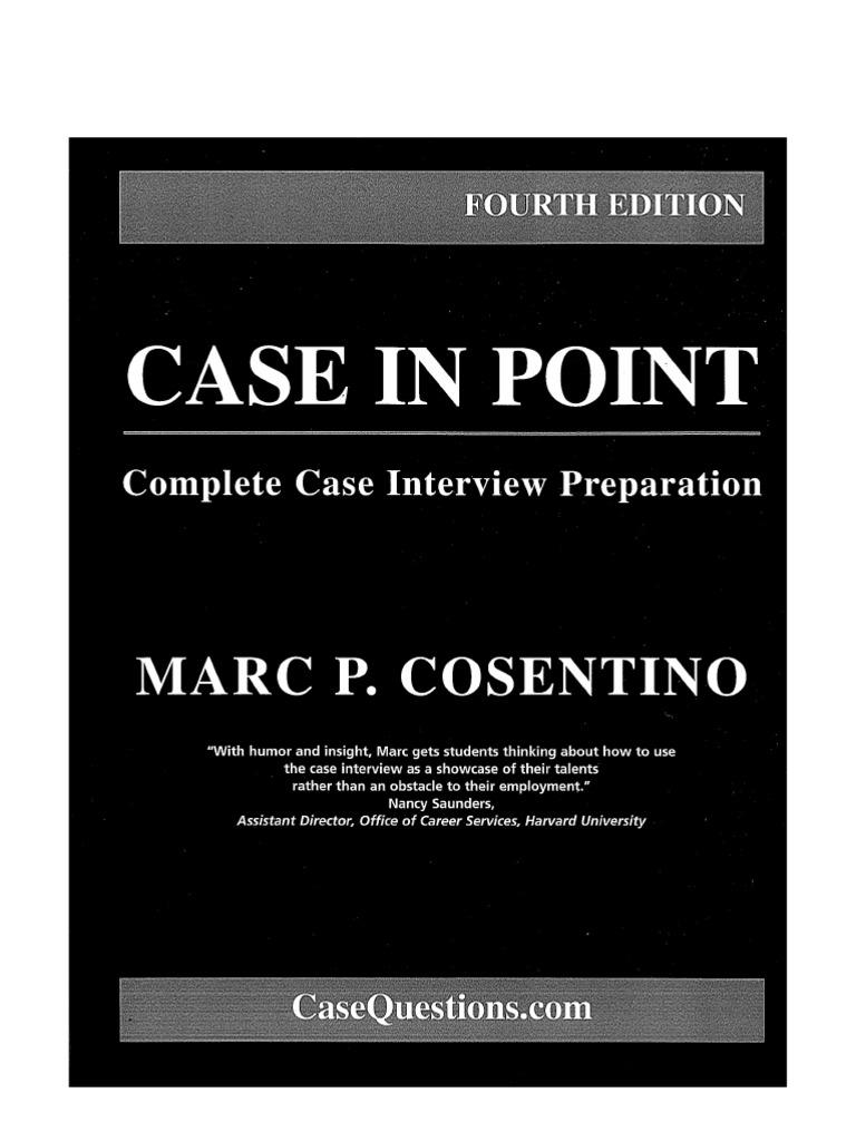 Case Interview Secrets Victor Cheng Ebook