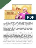 Papa Francisco en Santa Martha. 26-09-2013. Jueves XXV Semana T.O.