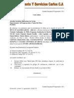 Carta Oferta Mantenimiento y Sevicios Carlos c.A