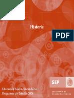 Programa de Estudio de Historia. SEP. Internet