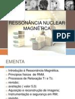 aula 1 Ressonância Nuclear Magnética