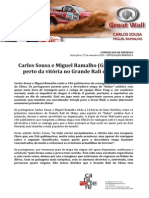 COMUNICADO DE IMPRENSA | CARLOS SOUSA - GRANDE RALI DA CHINA - ETAPA 11