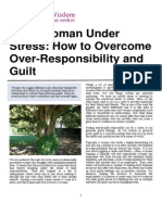 Superwoman Under Stress - How to Overcome Over-Responsibility and Guilt