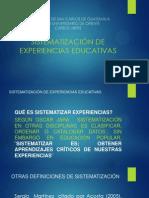 SISTEMATIZACIÓN DE EXPERIENCIAS EDUCATIVAS