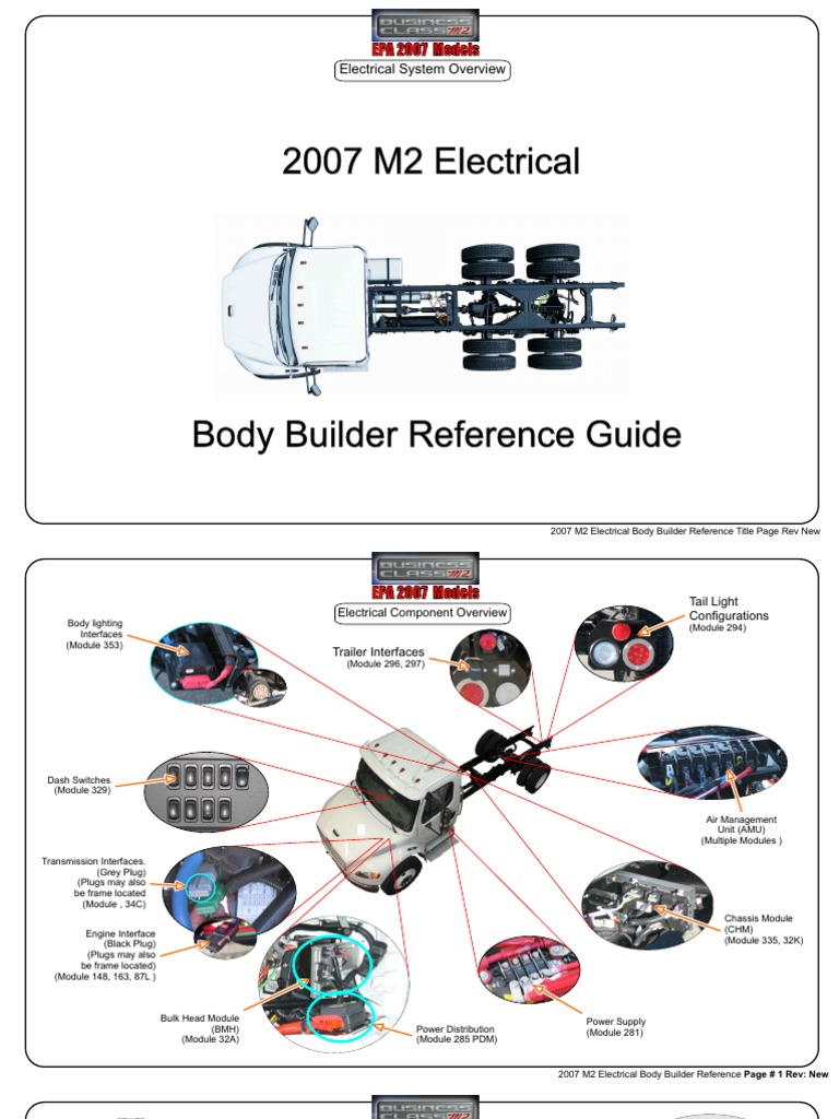 m2 2007 electrical body builder manual rev new automatic rh es scribd com 2007 Freightliner M2 Wiring-Diagram 06 Freightliner M2 Wiring-Diagram