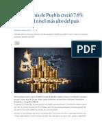 La economía de Puebla