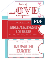 Love Coupon Book 1
