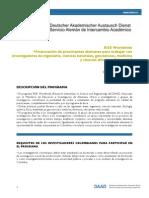 DAAD Convocatoria RISE Worldwide 2013