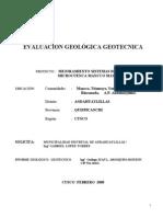 Eval. Geolo Geotec Manccomayo