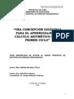 Tesis - Dr - Concepcion Didactica Para El Aprend Del Calculo Aritmetico