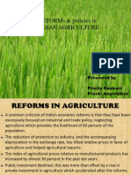 Agriculture Policies & Reforms in India