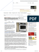 Dacor Esquenta Cozinha Tecnologia Com a Discovery iQ Parede Do Forno