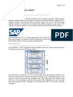 ABAP Brief Intro(Scribd)